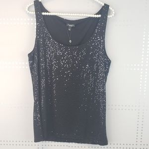Talbots | Black tank with sequins
